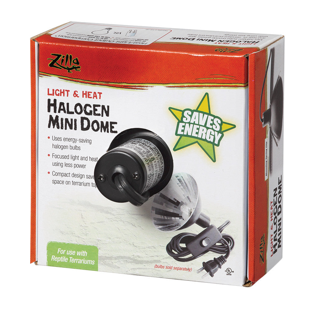 Zilla Light & Heat Halogen Mini Dome - Canadian Pet Connection