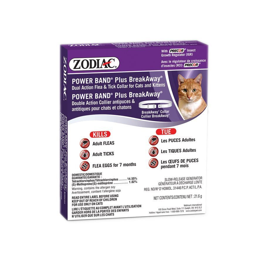 ZODIAC® Power Band Plus ll Dual Action Flea and Tick Collar for Dogs, Puppies, Cats or Kittens - Canadian Pet Connection