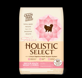 HOLISTIC SELECT Adult Cat Food - GRAIN FREE Indoor and Weight Control - Canadian Pet Connection