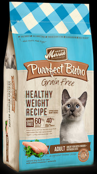 MERRICK Grain Free Adult Cat Food - Healthy Weight (Purrfect Bistro) Indoor Cat and Diet Food