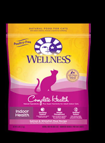 WELLNESS COMPLETE HEALTH Indoor Health Salmon and Whitefish Dry Cat Food - Indoor Cat and Diet Food for All Ages - Canadian Pet Connection