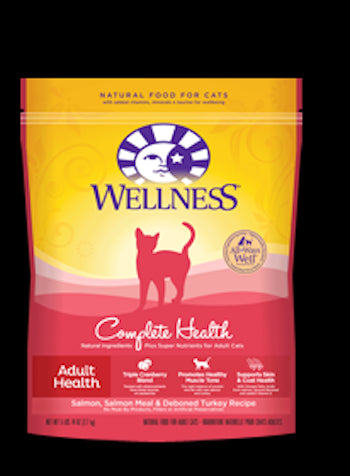 WELLNESS COMPLETE HEALTH Salmon Dry Cat Food for All Ages - Canadian Pet Connection