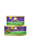 WELLNESS Cubed, Sliced, and Minced Wet Cat Food (Sold by the Case) - All sizes and Formulas - for All Ages - Canadian Pet Connection