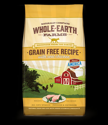 WHOLE EARTH FARMS Grain Free Cat Food by Merrick - Chicken - for All Ages