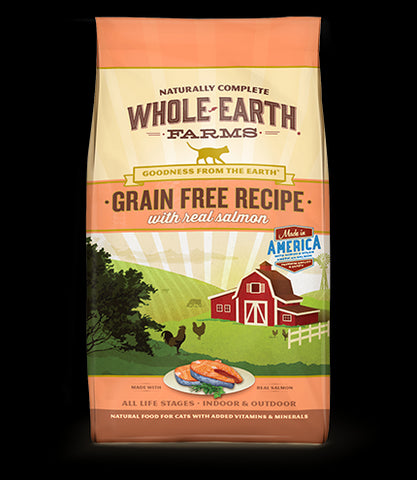 WHOLE EARTH FARMS Grain Free Cat Food by Merrick - Salmon - for All Ages