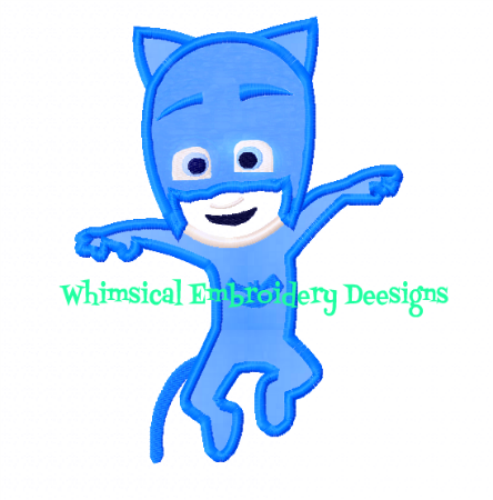 Whimsicalembroiderydesigns Catboy Pj Masks Machine Embroidery