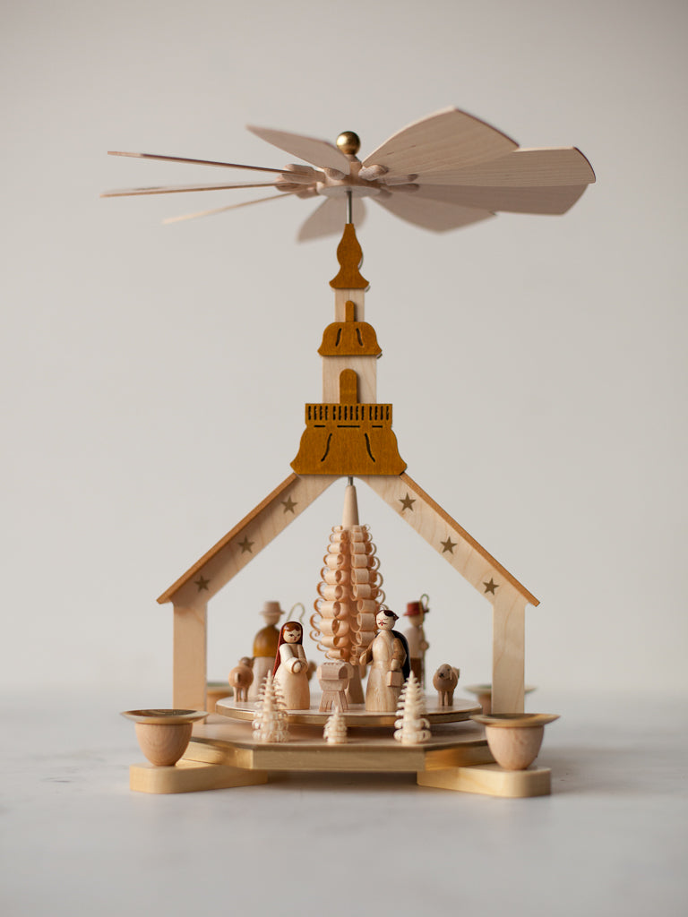 Steeple Nativity Pyramid