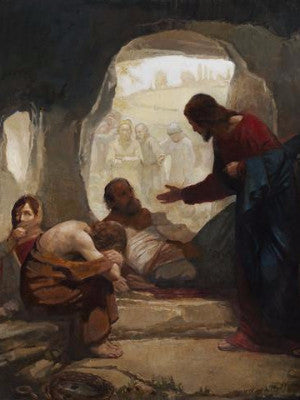 J. Kirk Richards<br/>Christ Among the Lepers