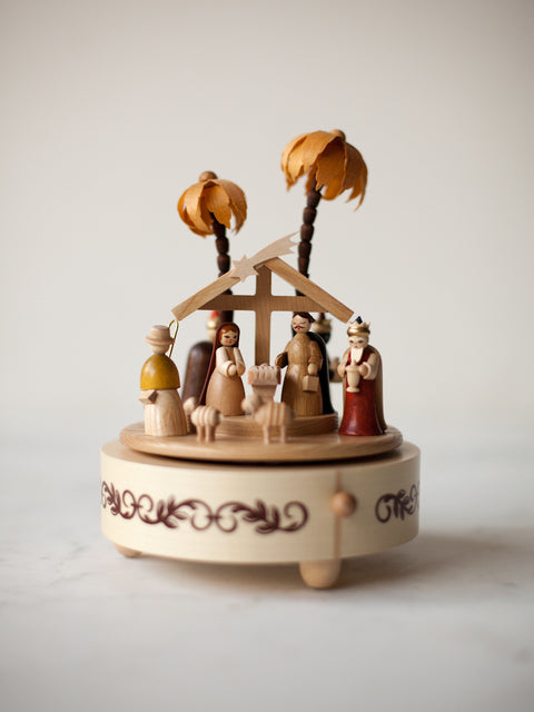 Music Box Nativity With Three Kings