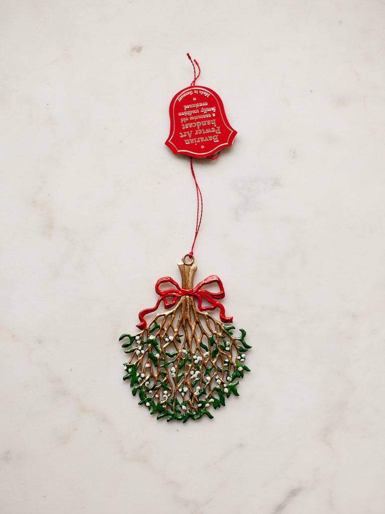 Pewter Mistletoe Ornament