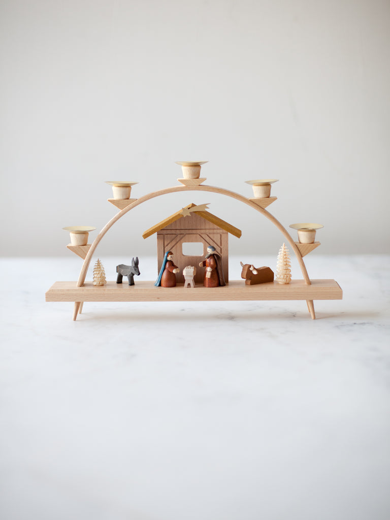 Taper Candle Arch Nativity