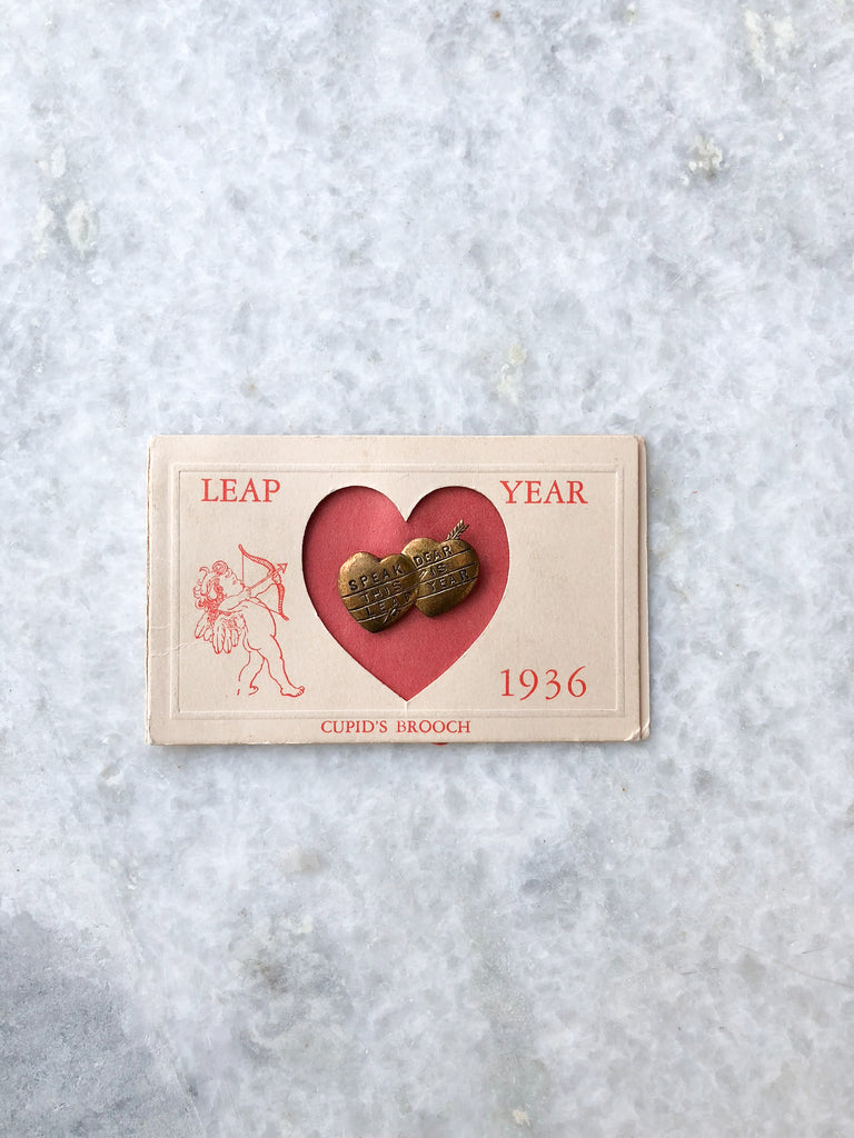 Leap Year Cupid's Brooch