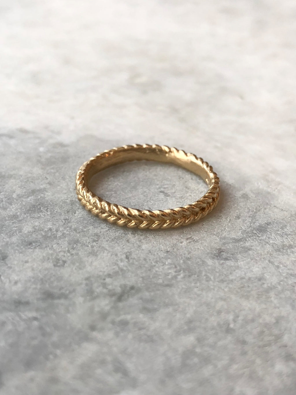 Double Rope Gold Band