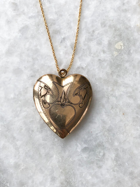Heart & Scrolls Locket