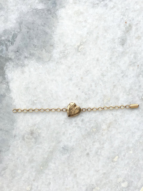 Gold Fill Heart Bracelet