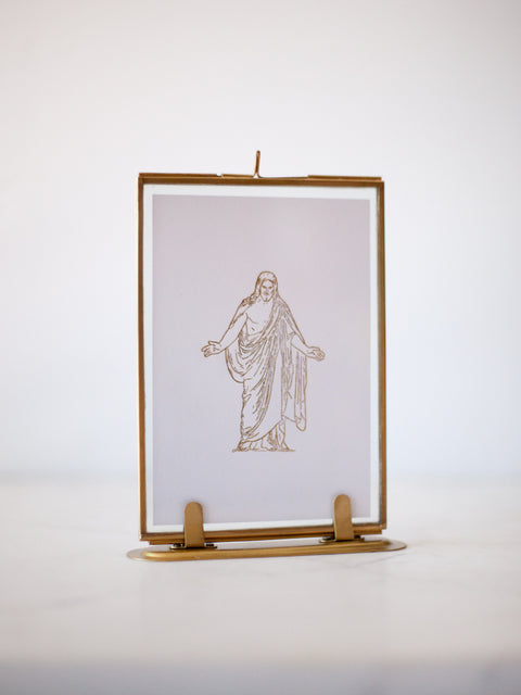 Letterpress Christus in Gold Foil