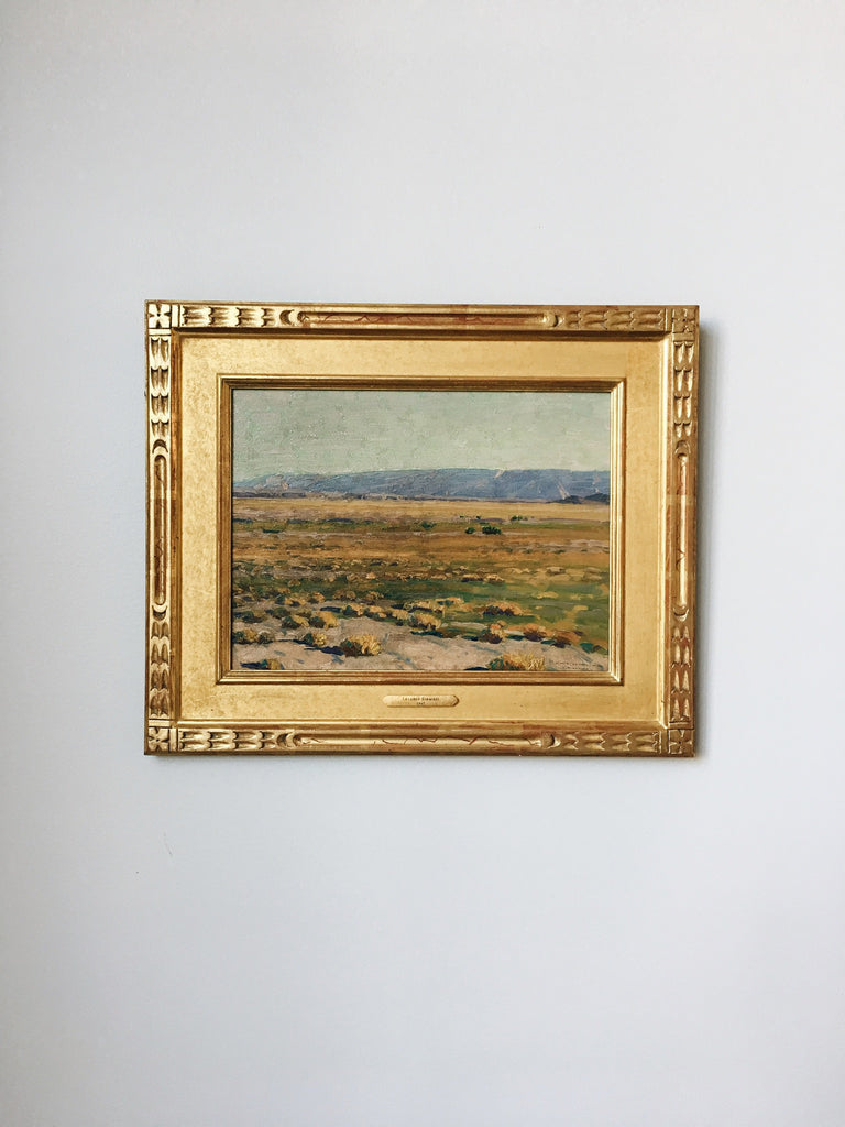 LeConte Stewart<br/>Green River, or Golden Afternoon in the Desert 1930