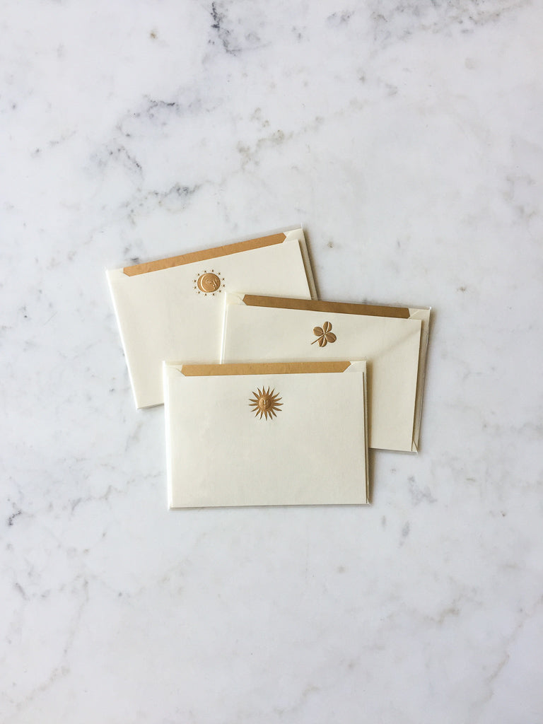 Engraved Gold Blank Cards
