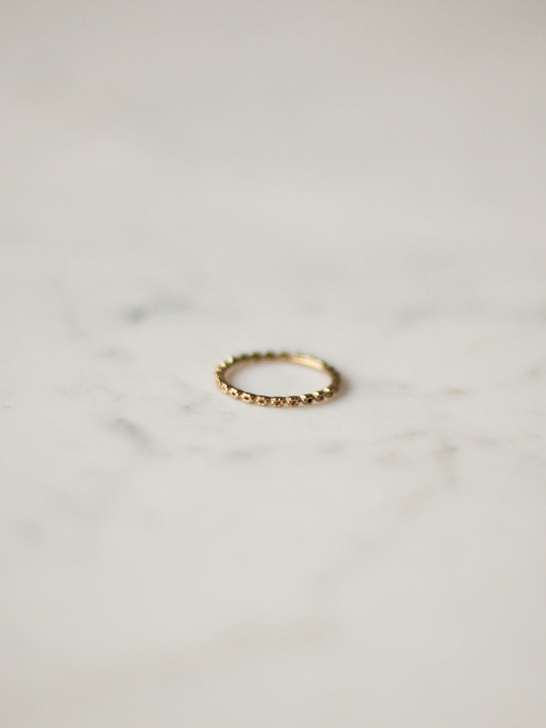 Danish Gold Floral Chain Ring