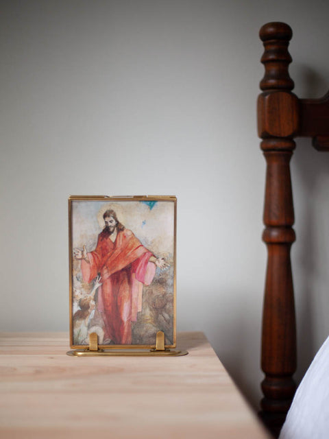Minerva Teichert <br/> Christ in a Red Robe <br/> Print