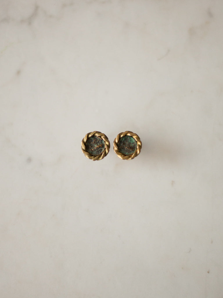 Antique Coin Post Earrings