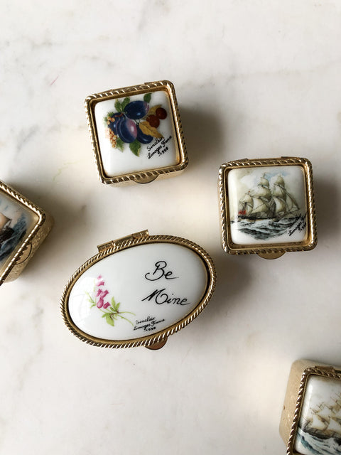 Antique Limoges Ring Boxes