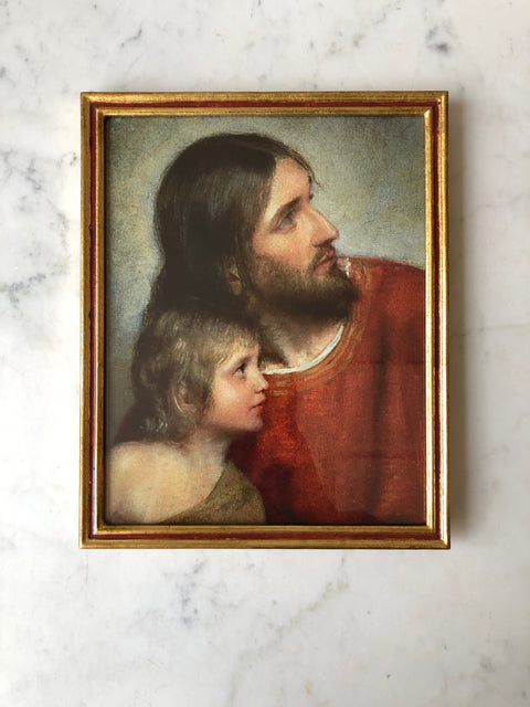 "Carl Bloch<br/>Framed Print<br/>""Christ and Child"""
