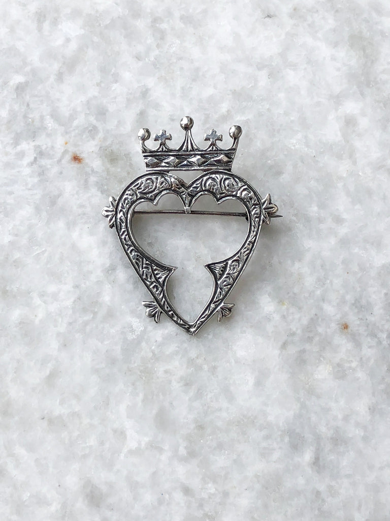 Luckenbooth Brooch Silver Crown