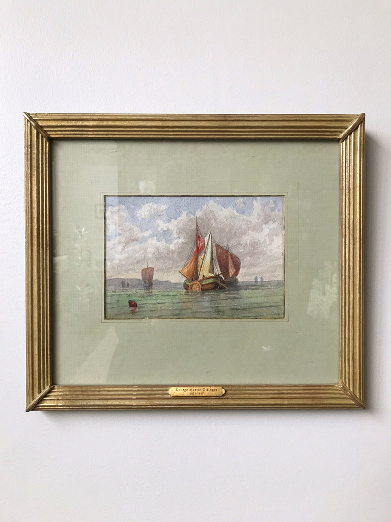 George M. Ottinger<br/>Watercolor Ships