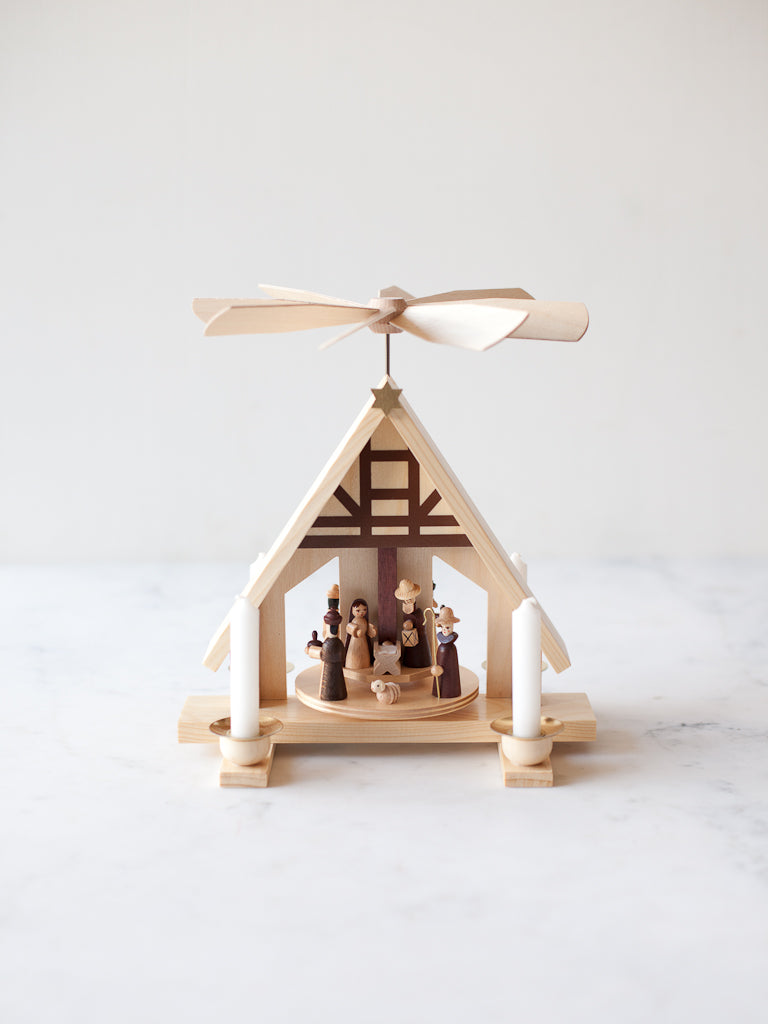 Small Timberframe Nativity Pyramid
