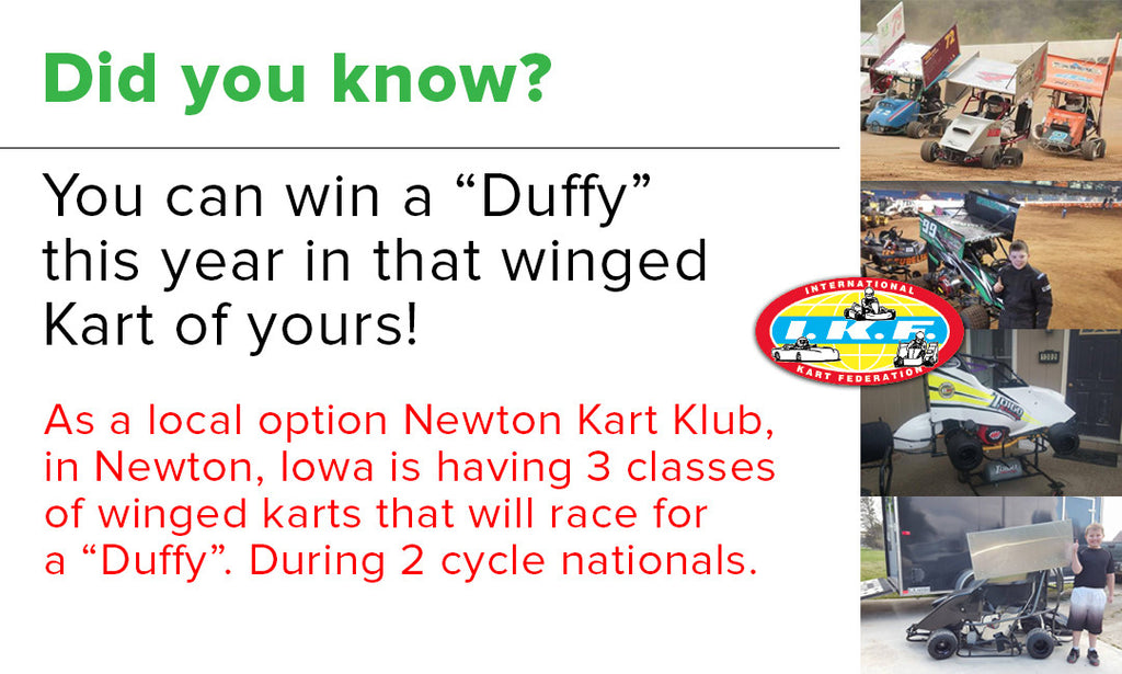 IKF approves Winged Karts for the Duffy