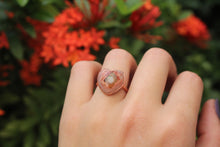 Size 6.5; Mexican Fire Opal Heart Ring No.II