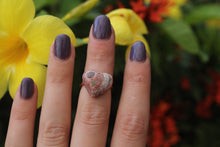 Size 5; Mexican Fire Opal Heart Ring No.IX