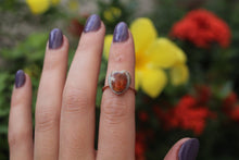 Size 5.5; Mexican Fire Opal Heart Ring No.XVIII