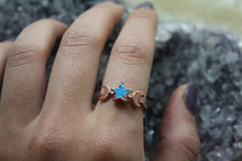 Size 8.5; Opal Star Moon Phase Ring