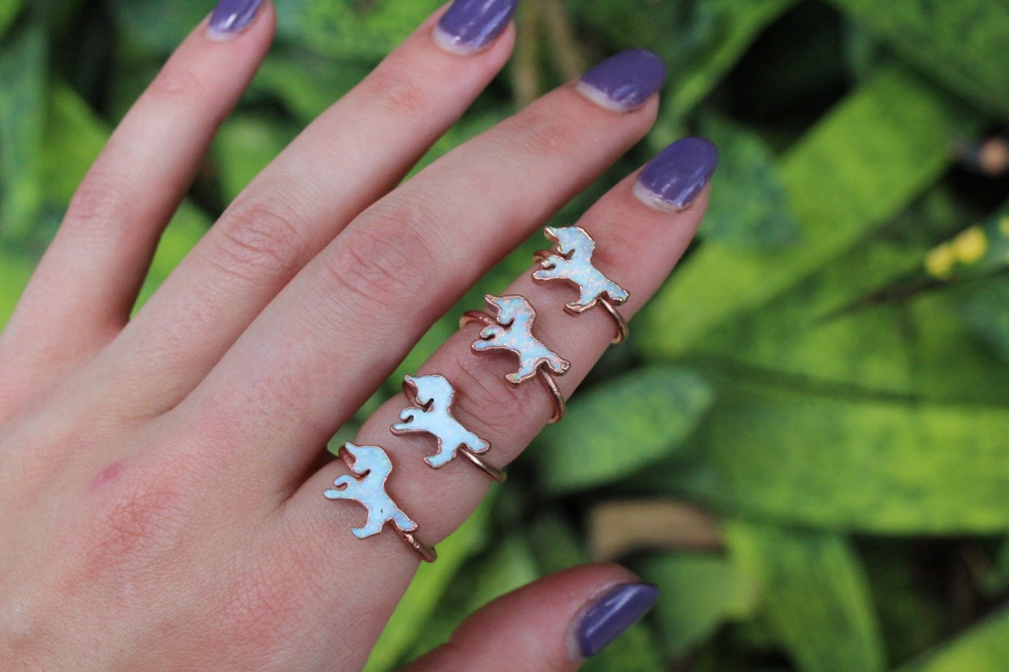 White Unicorn Opal Ring