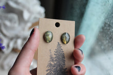 Labradorite Faceted Studs