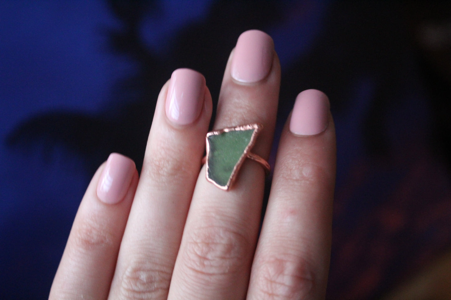 Size 4; Sea Glass Ring