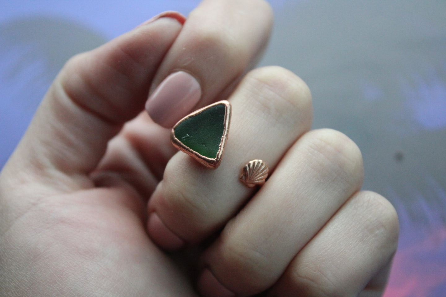 Size 6-7; Sea Glass Ring