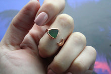 Size 8-9; Sea Glass Ring