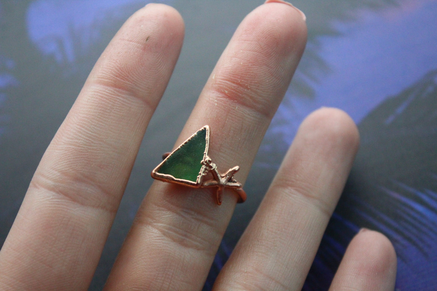 Size 6; Sea Glass Ring