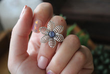 Size 8; Kyanite Flower Ring