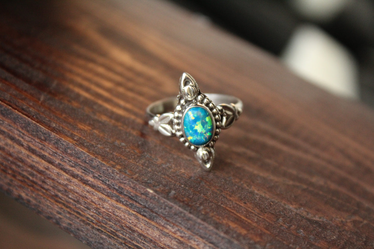 Size 8.5; Cultured Opal Ring