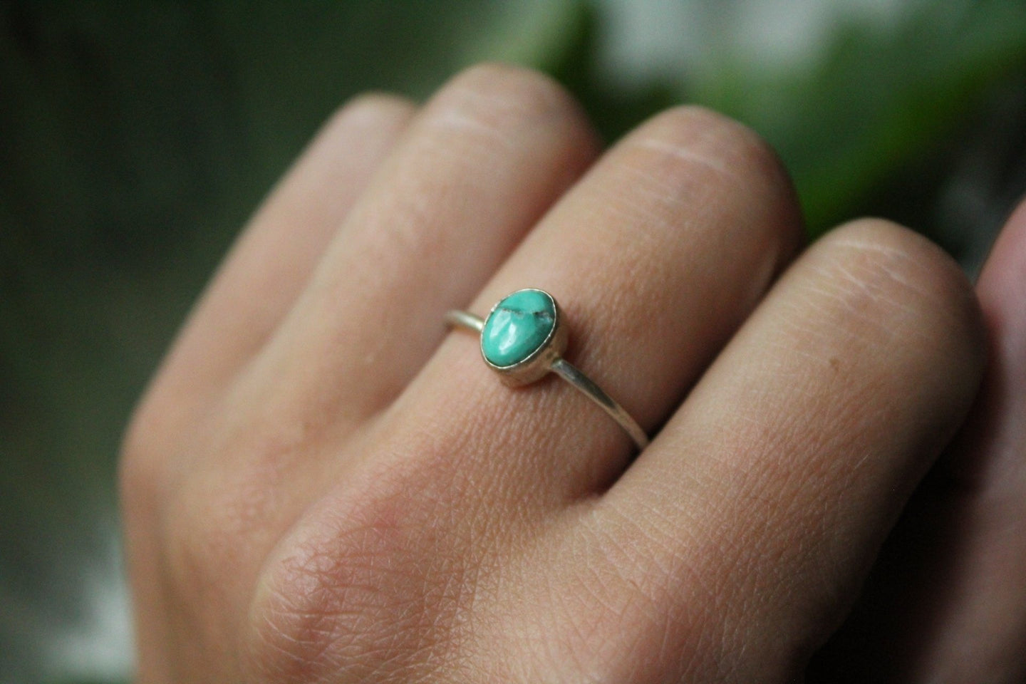 Size 8.5; Turquoise Ring