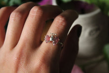 Size 7; Pink Tourmaline Butterfly Ring