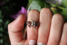 Size 6; Pink Tourmaline Butterfly Ring