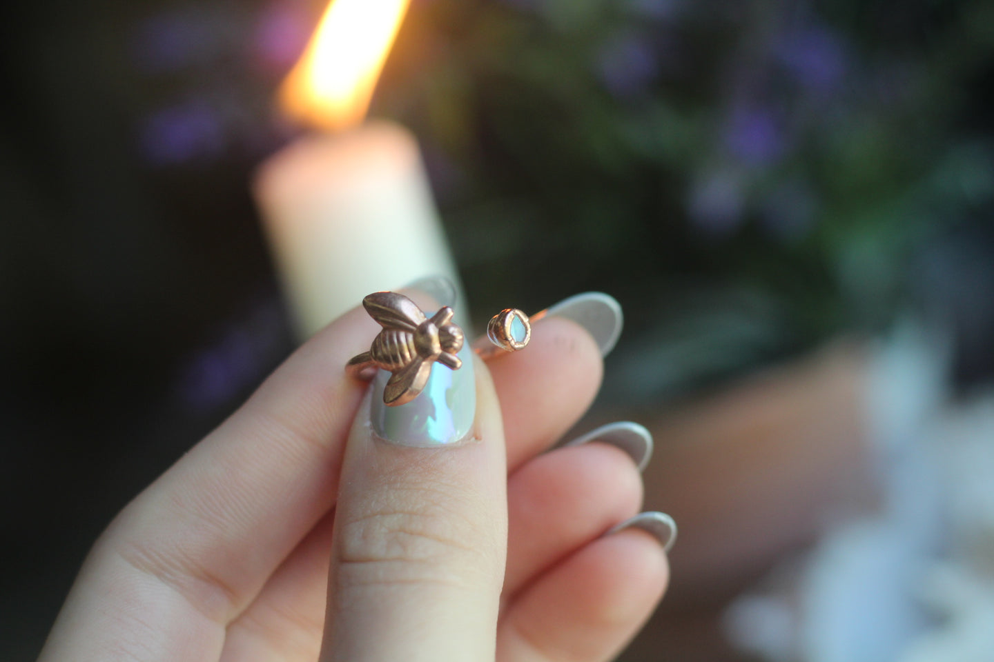 Size 7 ;  Opal Bumblebee Space Ring