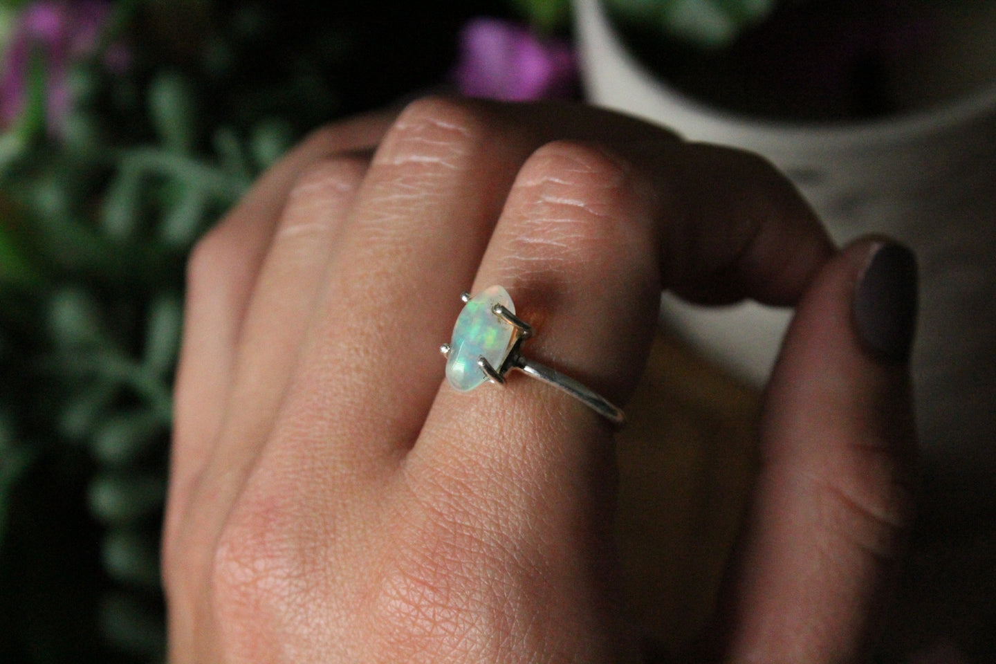 Size 7; Raw Ethiopian Opal Ring
