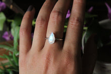Size 7; Faceted Moonstone Ring