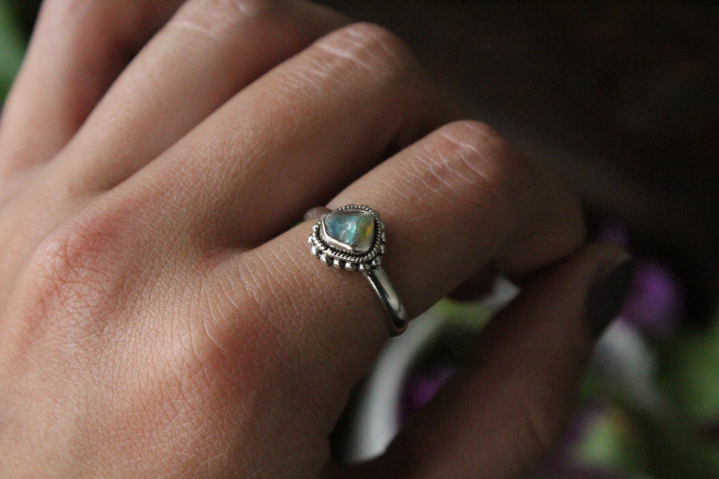 Size 8; Ethiopian Opal Ring